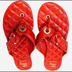 Burberry Ruby Red Sandals Size 7